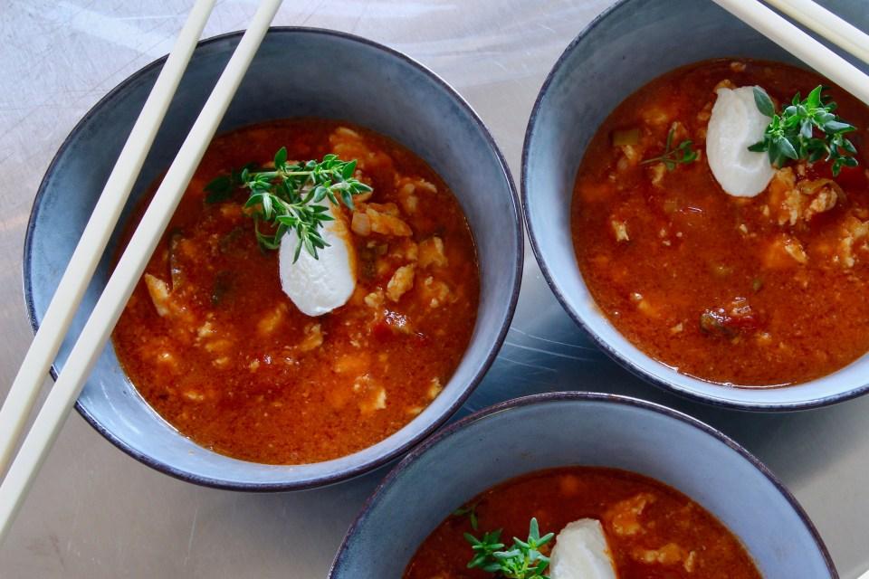 Tomatsoppa med asiatisk touch
