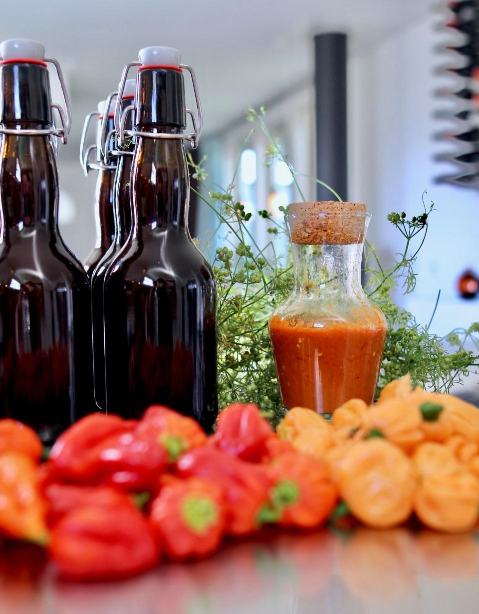 Fermenterad chilisås - hemgjord Tabasco