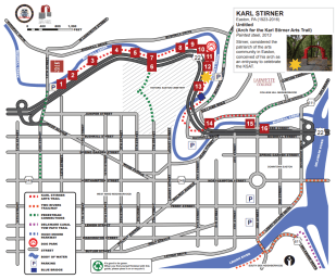 The official Karl Stirner Arts Trail map in Easton PA