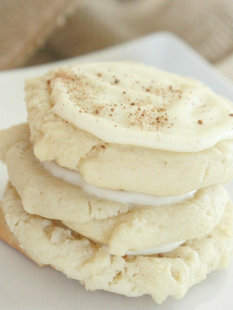 Delicious Eggnog Cookies