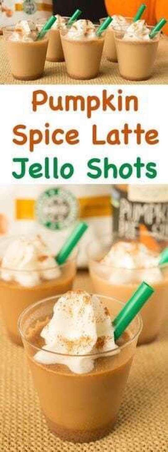 Pumpkin Spice Latte Jell-O Shots