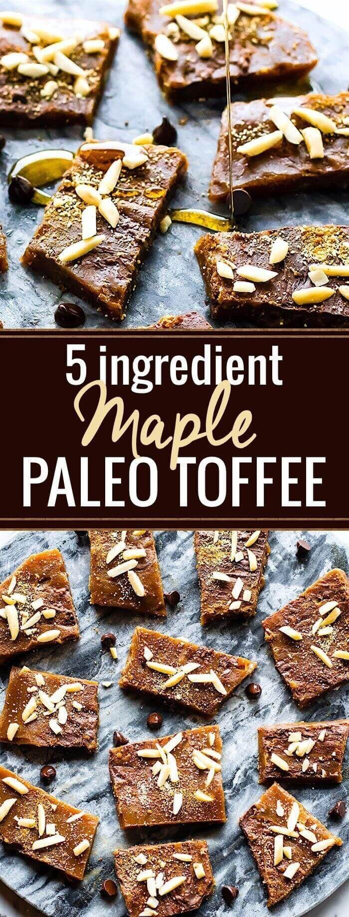 5-Ingredient Maple Paleo Toffee