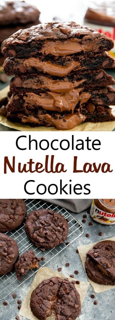 Chocolate Nutella Lava Cookies