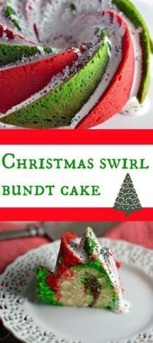 Christmas Swirl Bundt Cakes