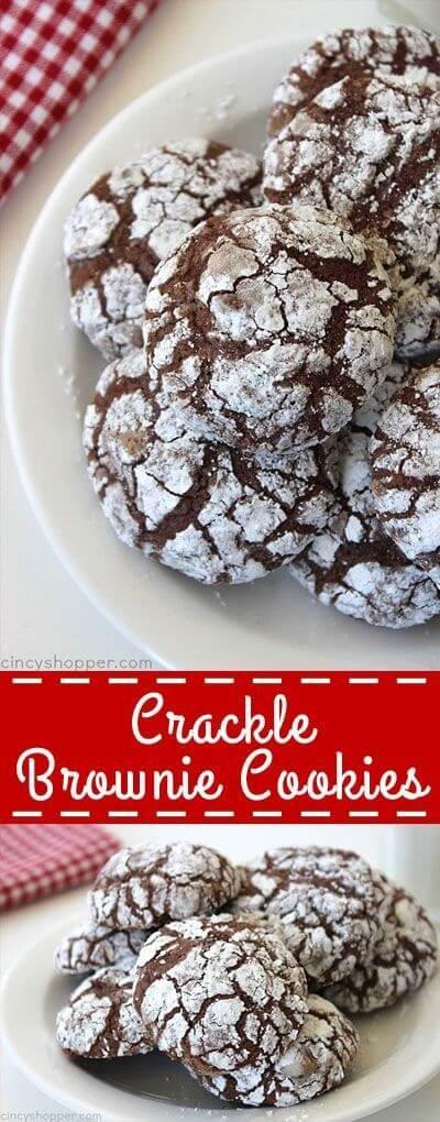 Crackle Brownie Cookies