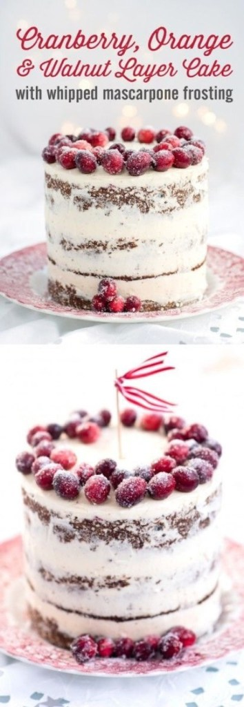Cranberry, Orange & Walnut Layer Cake