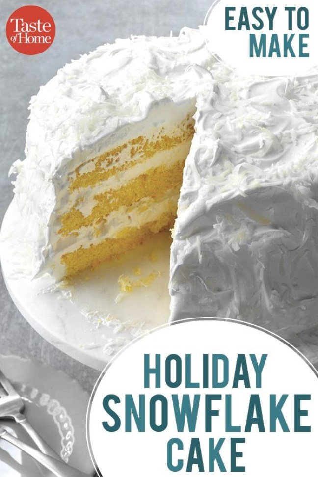 Holiday Snowflake Cake