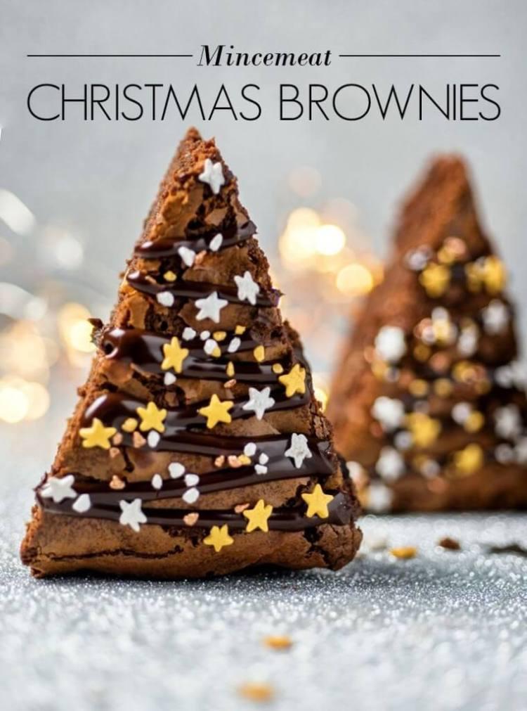 Mincemeat Christmas Brownies