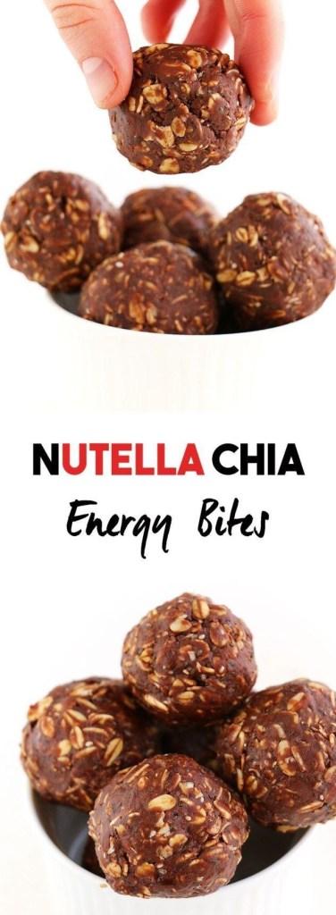 Nutella Chia Energy Bites