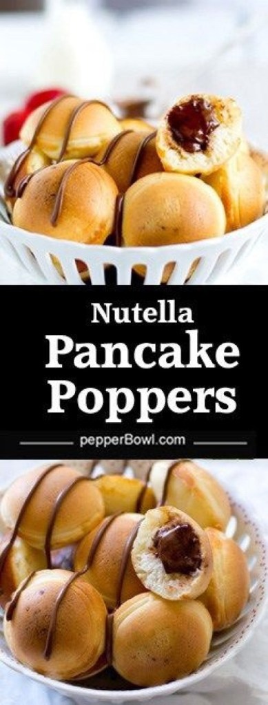 Nutella Pancake Poppers