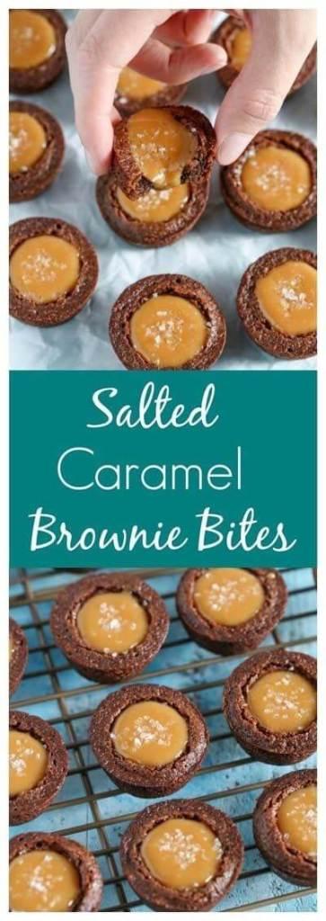 Salted Caramel Brownie Bites(1)