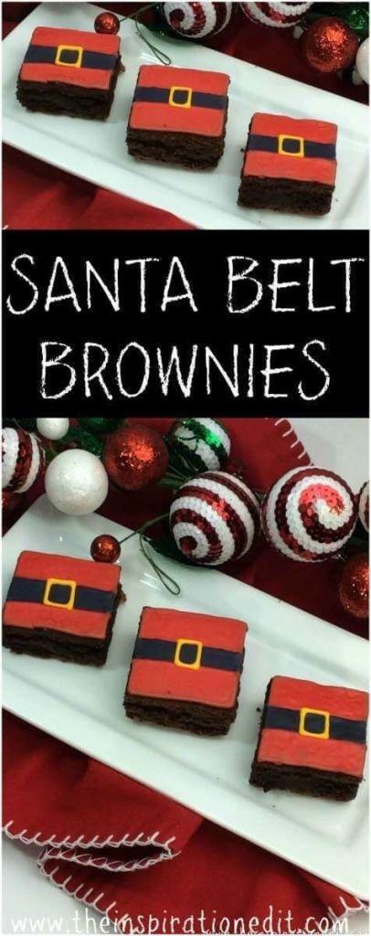 Santa Belt Brownies