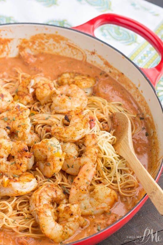 Spicy New Orleans Shrimp Pasta