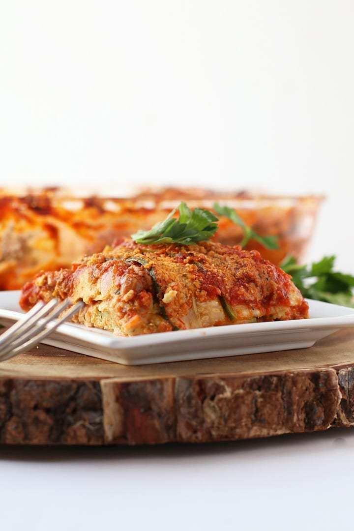1. Vegan Zucchini Noodle Lasagna