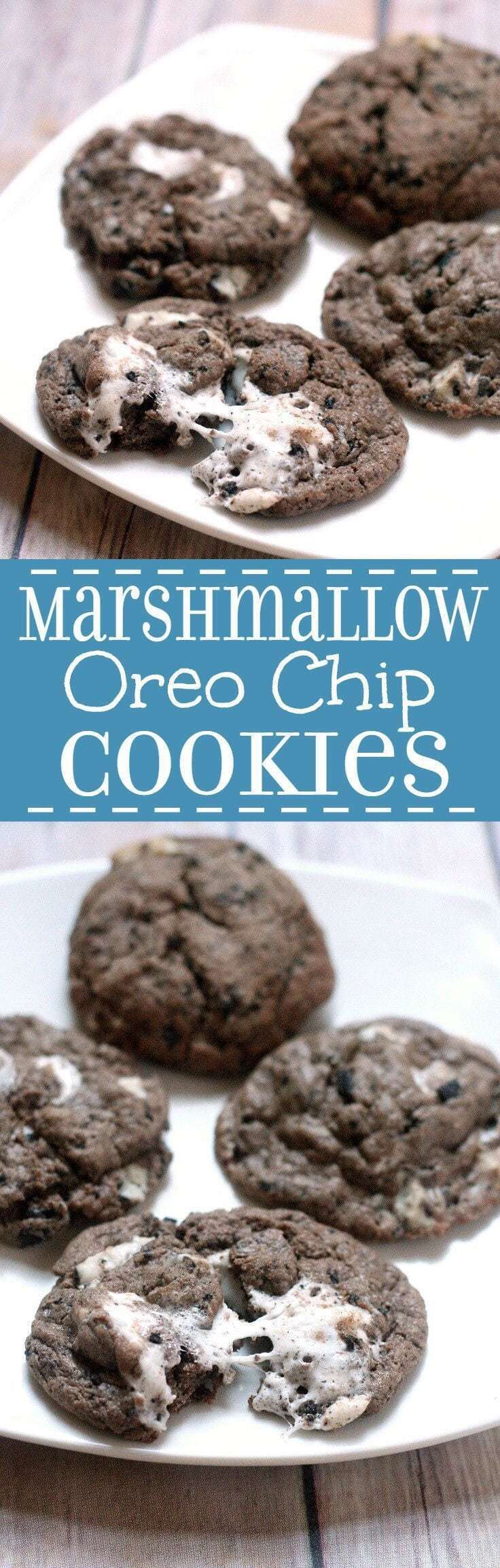 Marshmallow Oreo Chip Cookies