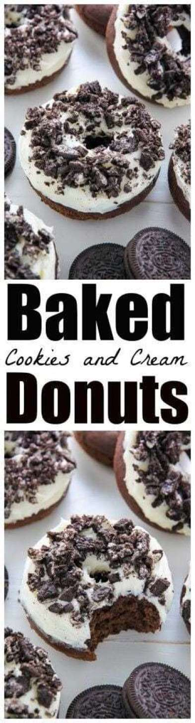 12. Baked Cookies & Cream Donuts