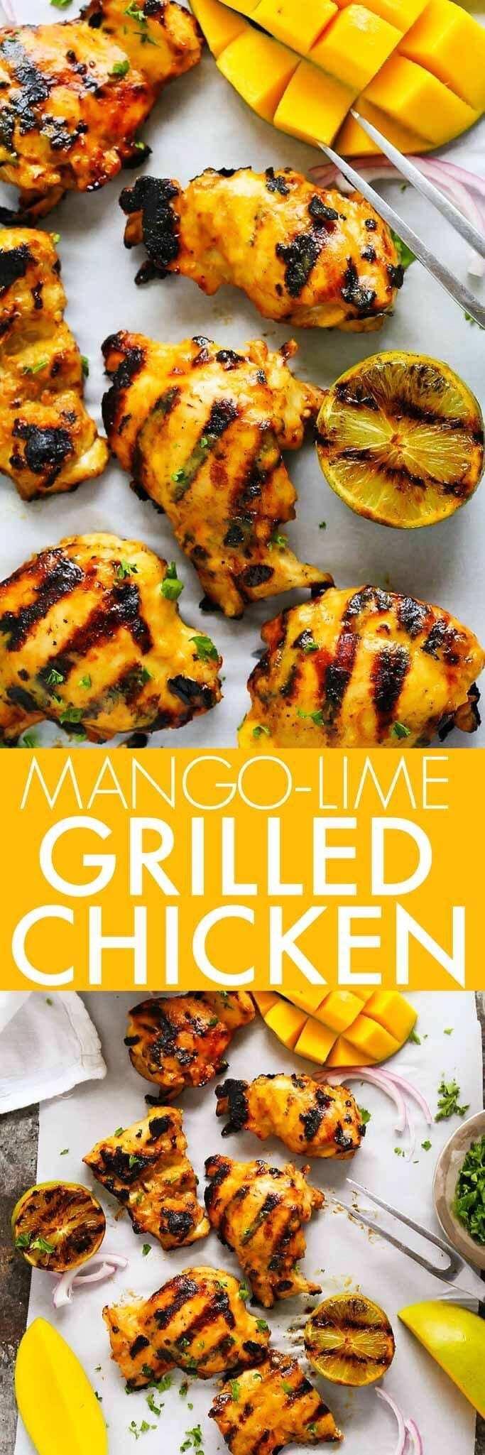 17. Mango-Lime Grilled Chicken