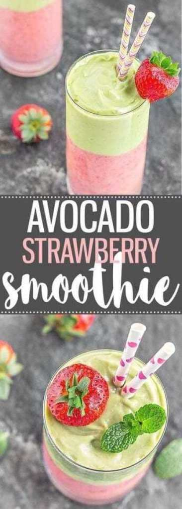 Avocado Strawberry Smoothie