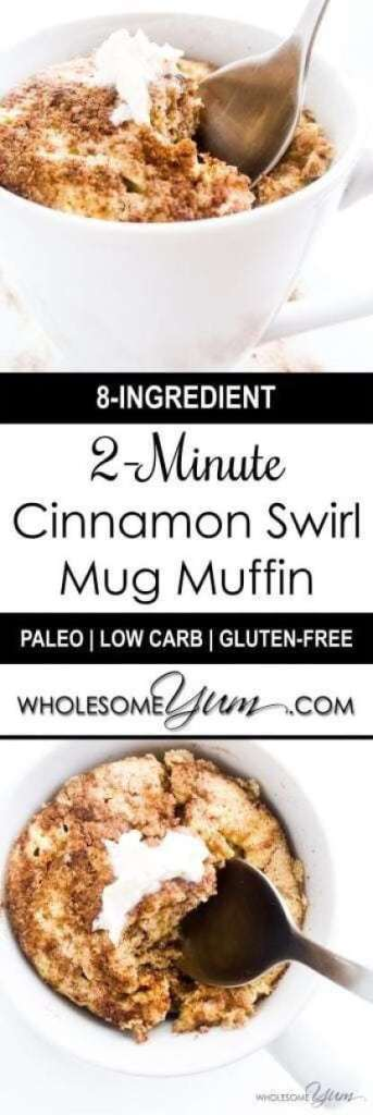 Simple Cinnamon Swirl Mug Muffin recipe