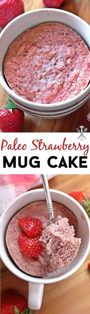 Easy Paleo Strawberry Mug Cake