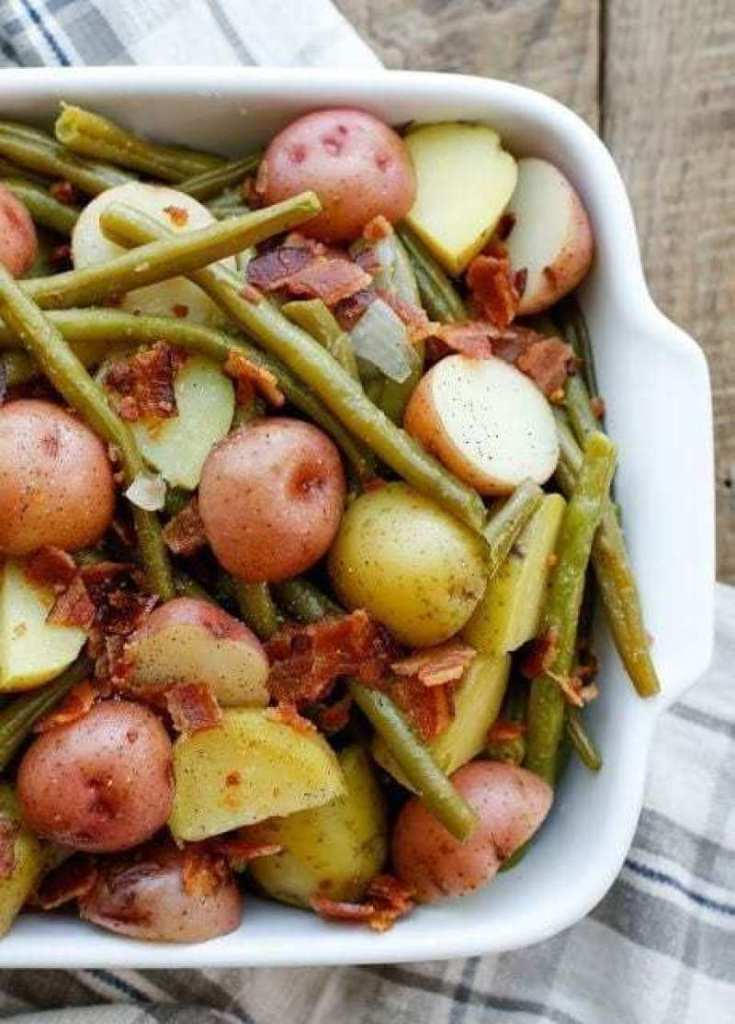 Southern-Style Green Beans with Potatoes & Bacon Recipe
