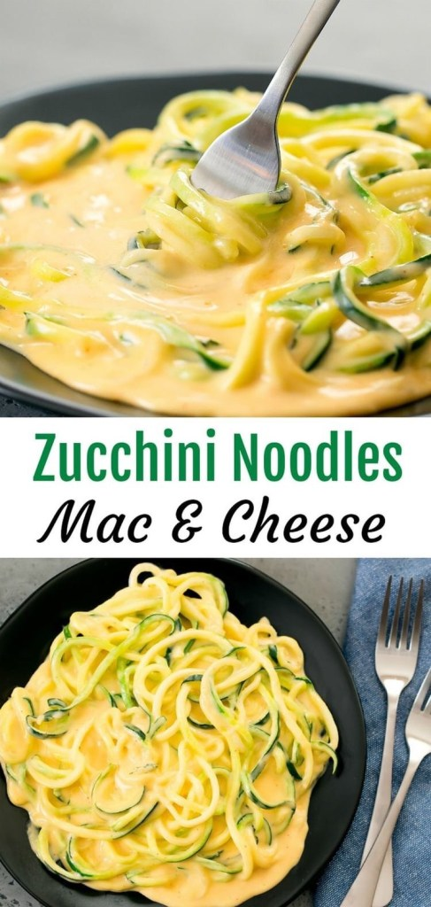 Low Carb Zucchini Noodles Mac & Cheese