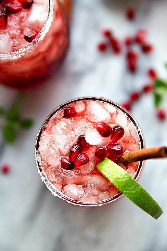 Sparkling Cranberry Lime and Pomegranate Beverage