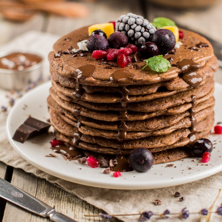 Chocolaty Sweet Potato Pancakes