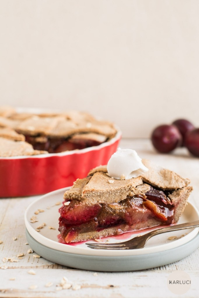 Plum Pie (Vegan, Gluten-Free)