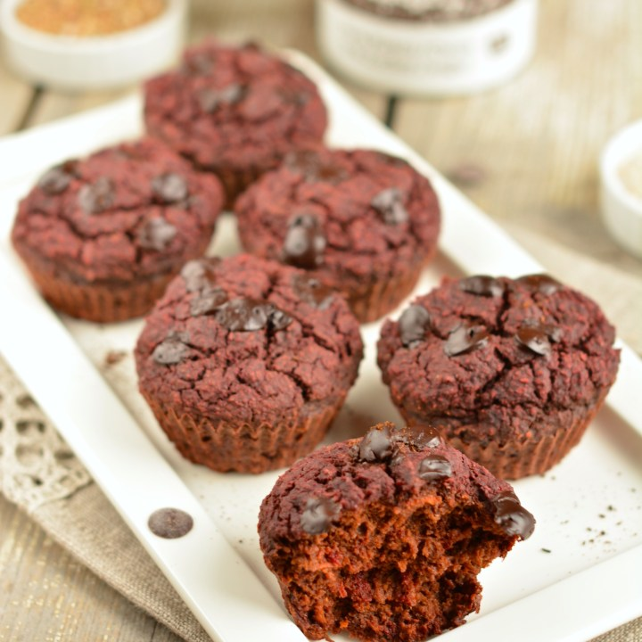 Beet-Carrot Chocolate Muffins, Oil-Free