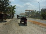 About 10 km outside Phnom Penh, the road turned to a dusty mess. Looked like it had been under construction for awhile.