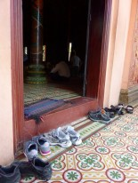 Always take your shoes off before going in the temple.