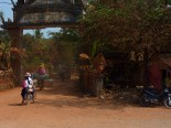 Loaded up motorbikes, headed into the village. Another pic from the bikeride into the southern coastal town of Kampot.