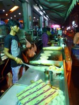 Nighttime street food crawl in VV Puram neighborhood in B'lore.