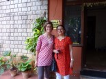 Visiting Veena at her house once more before I left.... so sad to leave after meeting such nice folks.