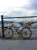 Bike and boats, in Canakkale