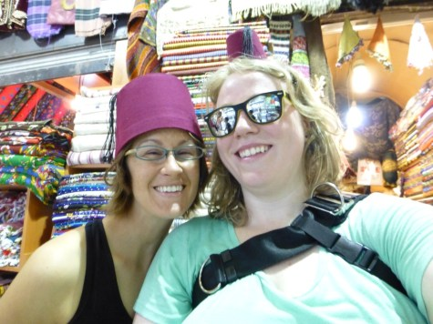 At the Grand Bazaar w/ Cora! We stopped at a Fez shop.