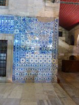 Let's put all of the random extra tiles... Here! Awesome tile wall at a mosque near the Eminonu marina.