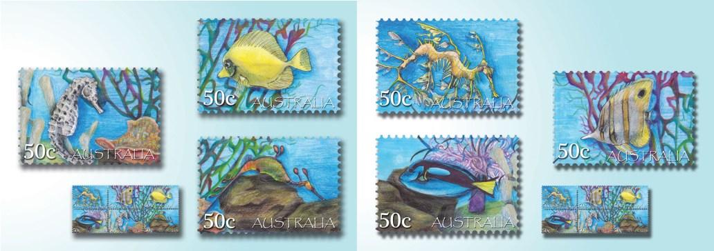 Karmaela Tropical Stamps