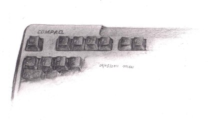 Compaq Keyboard Sketch