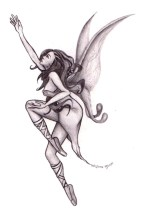 Karmaela Art: Fairy tattoo design