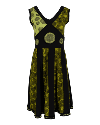 Karma Gear - Handmade Cotton dress with Hand printed mandala design