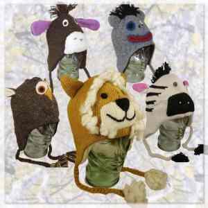 Knitted fleece animal hats| Karma Gear