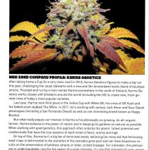 Karma Genetics Featured New Seed Company in High Times Magazine!