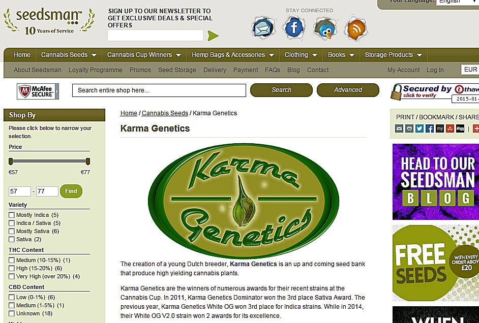 KG Seedsman Screen Shot