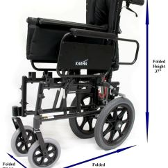 Transport Wheel Chair Pottery Barn Kids Km 5000 Tp 36 Lbs T 6 Reclining Wheelchair Karma K0004 E1226 5000tp Folded 1xl