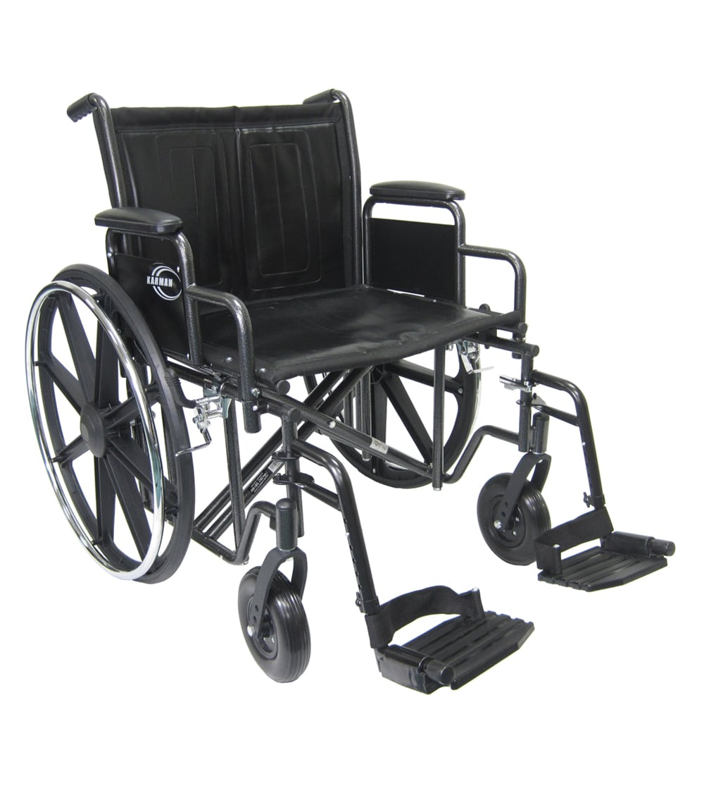 bariatric transport chair 500 lbs dining chairs with wheels for elderly kn 924w 926w 928w wheelchair karman healthcare