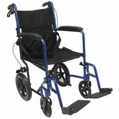 Transport Wheel Chair Merry Garden Adirondack Lt 1000 Wheelchair With Loop Brakes Karman Healthcare