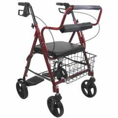 Ergonomic Chair Replacement Parts Deco Accent R-4602-t - Two In One Rollator / Transport 8 Inch Wheels