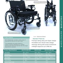 Wheelchair Size Black Plastic Chairs Outdoors Karman Seat Foldable Bariatric With Detachable